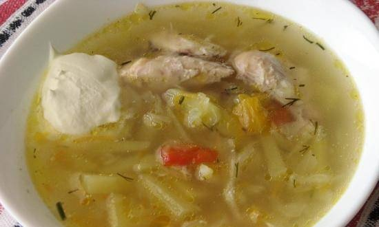 Cabbage soup with pumpkin in a multicooker Tefal RK-816E32