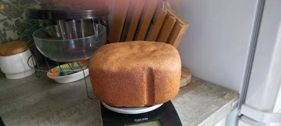 Rye-wheat bread with beer and whey in a Panasonic bread maker