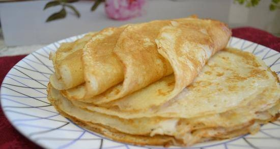 Pancakes with sour mare's milk gluten-free