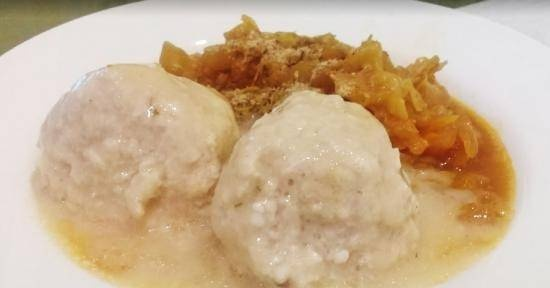 Meatballs with cottage cheese