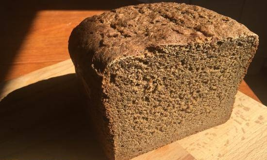 Brewed rye bread with honey in a Panasonic 2511 bread maker