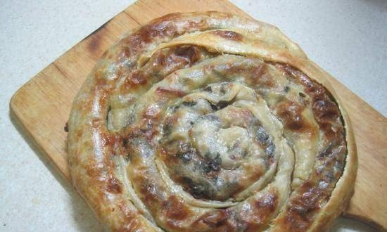Burek with cheese and beetroot