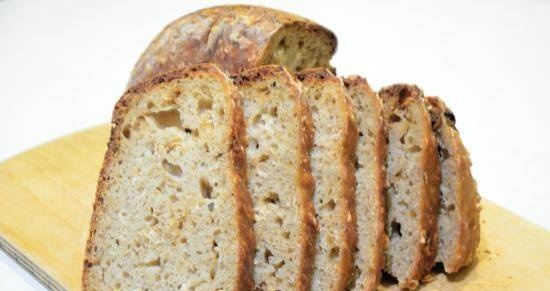 Oat bread without kneading