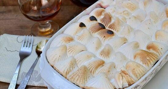 English Queen of puddings or Victoria pudding