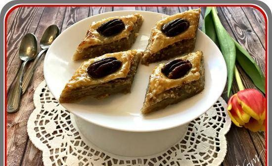 Baklava from ready-made puff pastry