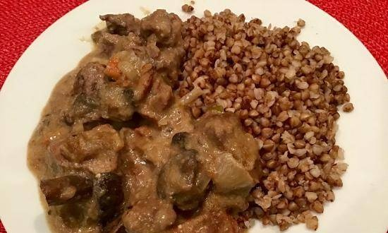 Slow Cooker Beef with Mushrooms
