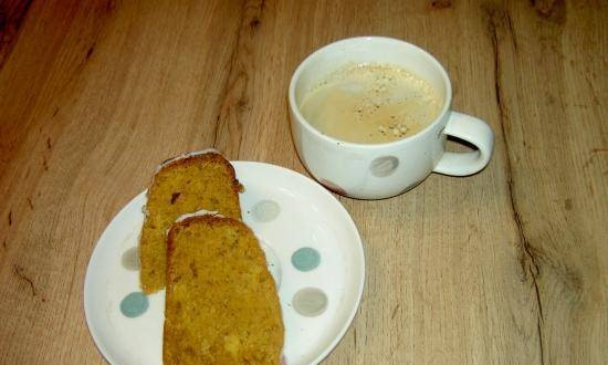Carrot cake with pineapple or nuts in Breville slow cooker 3.5 l