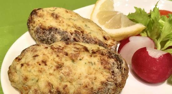 White poultry fillet cutlets without eggs and bread in a Ninja Foodi® 6.5-qt multican or in a frying pan