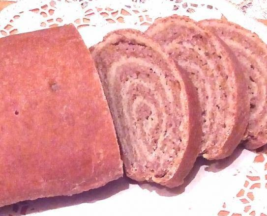 Yeast bread made from three types of flour