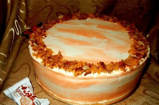 Carrot cake with quince