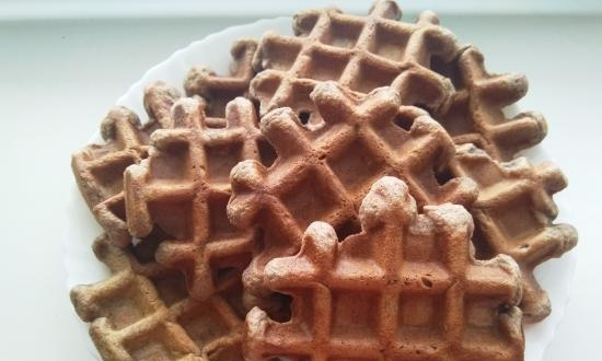 Delicious calorie-reduced waffles
