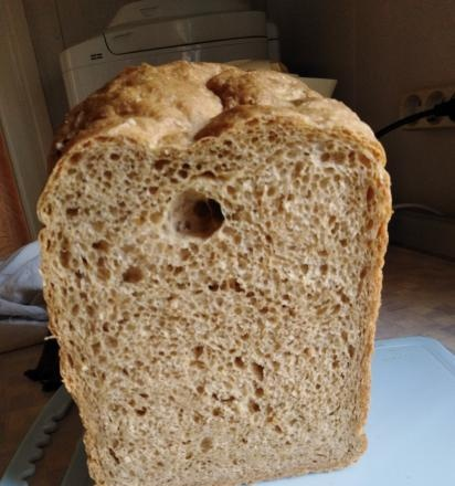 Panasonic 2501. Wheat bread made from flour of the first and second grade