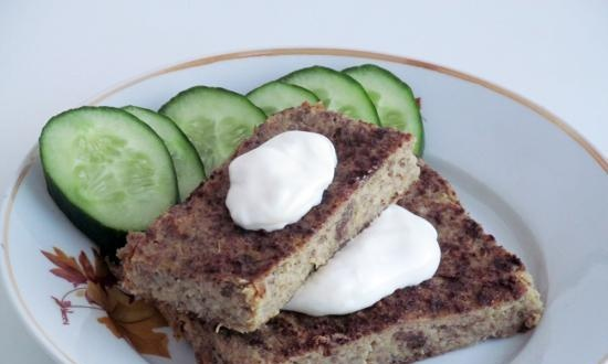 Cabbage pudding (+ video)