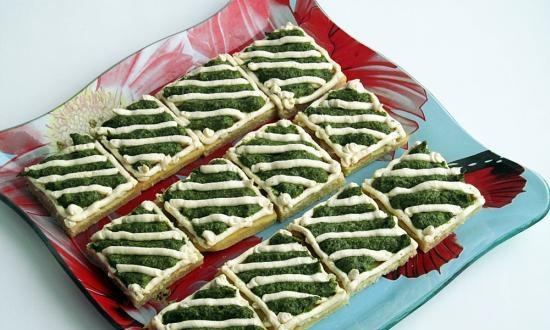 Shortcakes with spinach cream (+ video)
