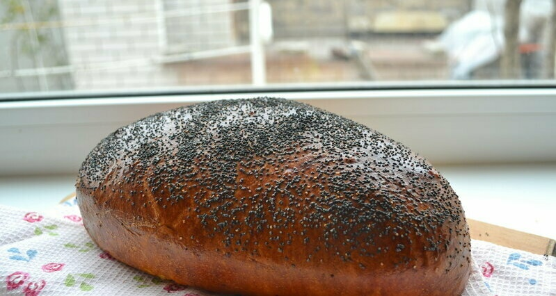 """Butter bread with turmeric and poppy seeds based on """"Shirin Cheryak"""""""