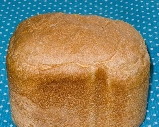 Gray bread with live yeast from wheat (w / s) and whole grain flour for Panasonic SD-2501