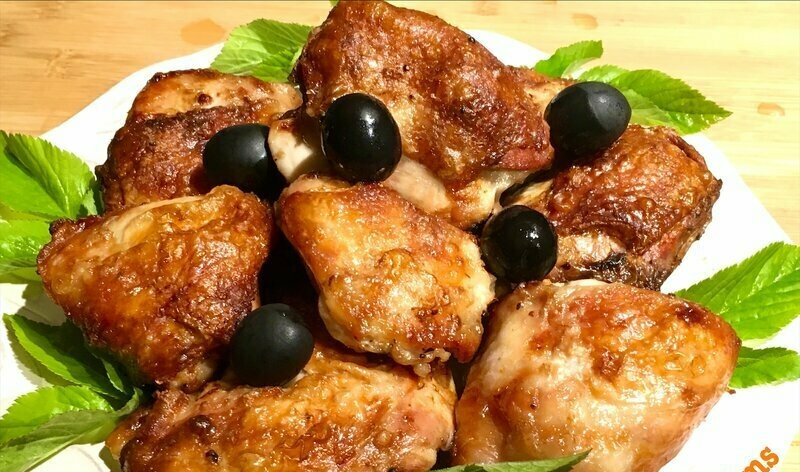 Ninja Grilled Chicken Thighs (Air Fryer, Oven, Non-Contact Grill)