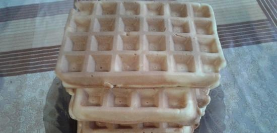 Waffles on carbonated water (recipe with instructions for the Polish MRM MGO 25 waffle iron)