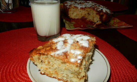 Oat and apple pie