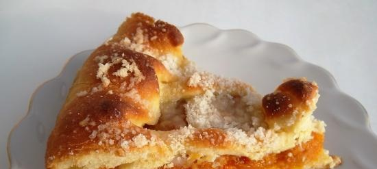 Tatar pie with dried apricots (+ video)