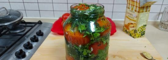 Quick pickled barrel tomatoes (+ video)