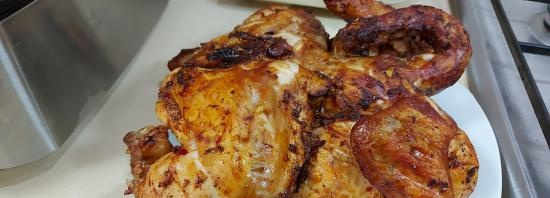 Grilled chicken in the Ninja electric grill (+ video)
