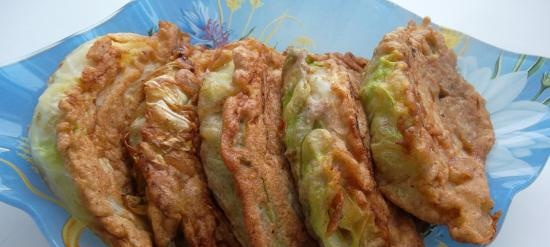 Early cabbage in rye batter (+ video)
