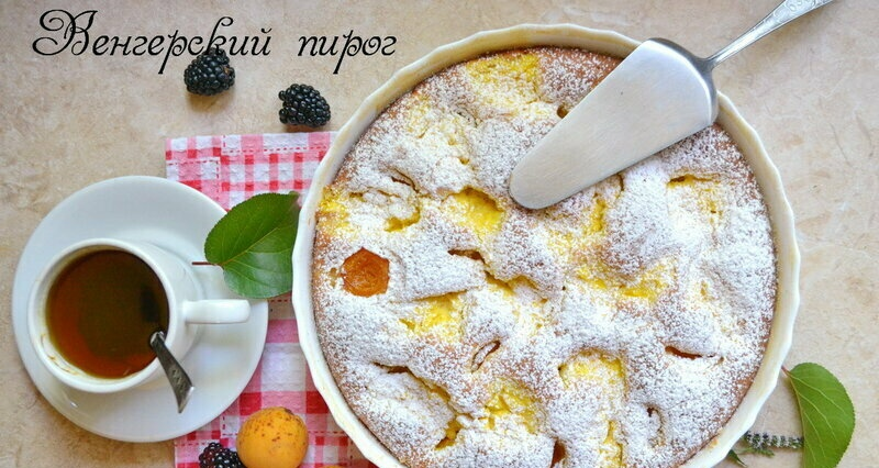 Hungarian pie with apricot and cottage cheese (+ video)