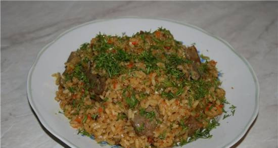 Cooking real pilaf (training topic)
