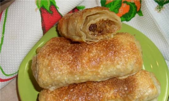 Puff rolls with nuts