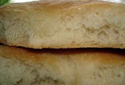Focaccia with mineral water