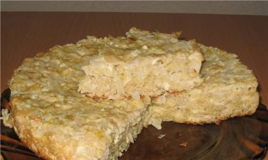 """Chinese cabbage charlotte (or """"lazy"""" cabbage pie)"""