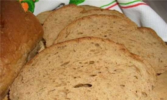 """Wheat-rye bread """"For those who want, but are afraid"""" (oven)"""