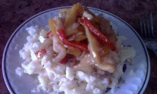 Pork chops with bell peppers