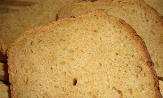 Long-proofed wheat-rye bread in the cold (oven)