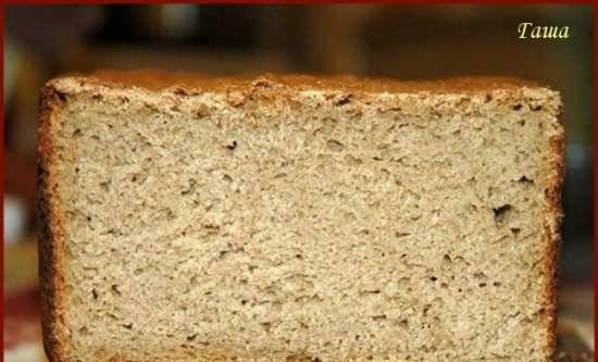 Black bread with caraway seeds (Germany) in a bread machine