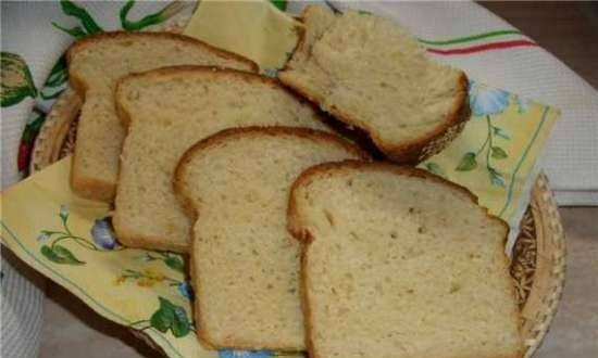 Wheat bread with sour cream in the oven