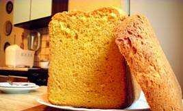 Carrot bread with baked milk in a bread maker
