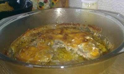 Baked beef with cheese
