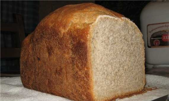 Moulinex. Wheat-rye bread with apple