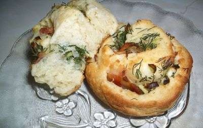 Curd buns with dill