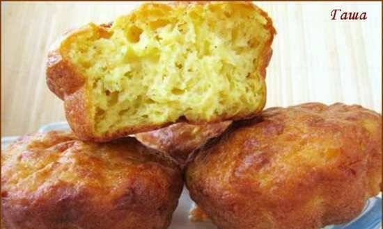 Cottage cheese and zucchini muffins