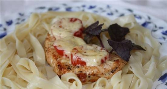 Turkey Chops with Tomato and Cheese