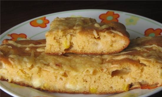 Corn pie with feta cheese Almost Mexican
