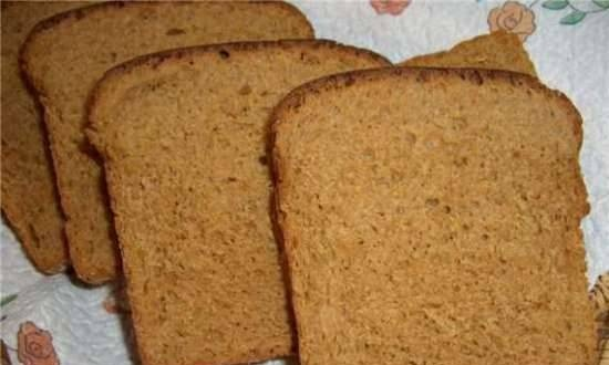 Wheat-rye bread with mayonnaise dressing (oven)