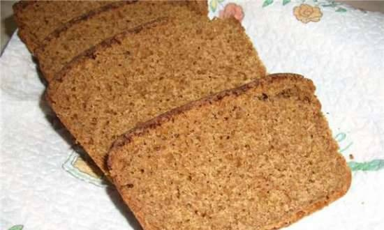 Rye-wheat bread with cottage cheese