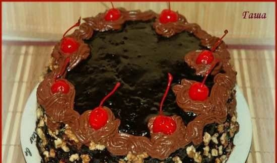 """Chocolate cake """"Kusi or Hormone of happiness"""" (oven, slow cooker)"""