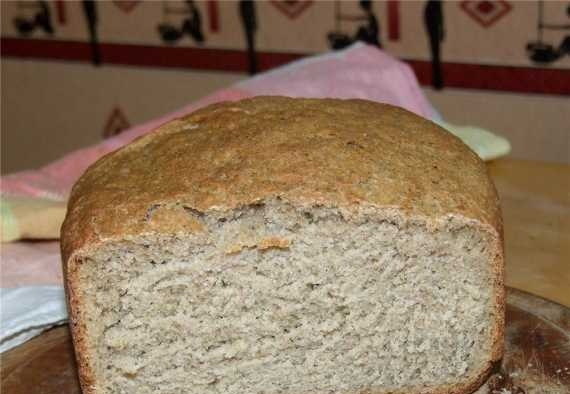 Wheat-rye bread with flax flour, bran and dried dill