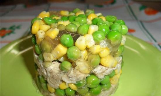 Vegetable broth for aspic