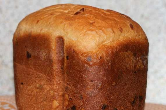 Cheese bread with dough (bread maker)